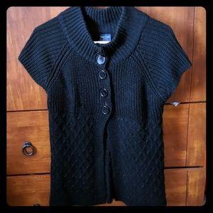 Black Knit Sweater Jacket